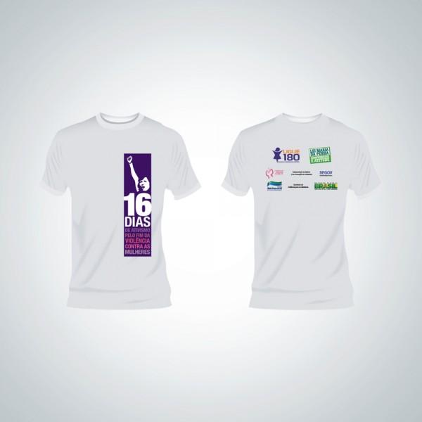 Camisa - 16 Dias de Ativismo pelo Fim da Violência Contra as Mulheres