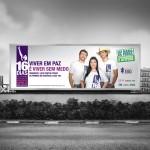 Outdoor - 16 Dias de Ativismo pelo Fim da Violência Contra as Mulheres