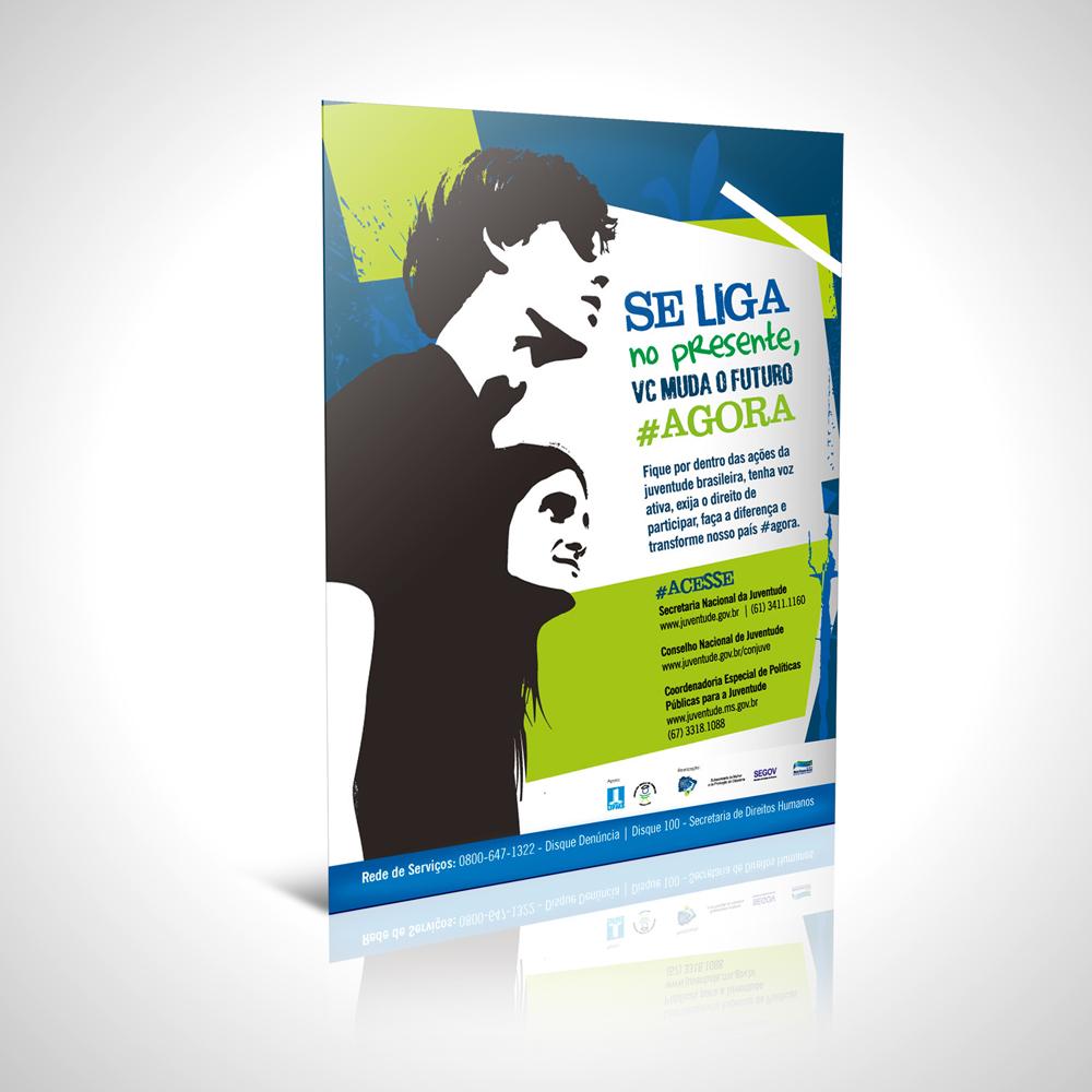 Cartaz da Coordenadoria da Juventude