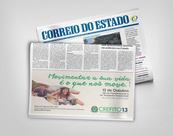 CREFITO 13 - Anúncio Jornal