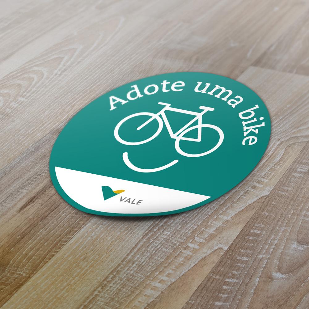 Adesivo Adote uma Bike