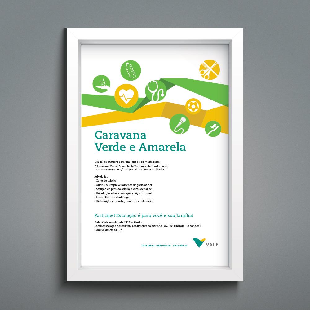 Caravana Verde Amarela - Cartaz