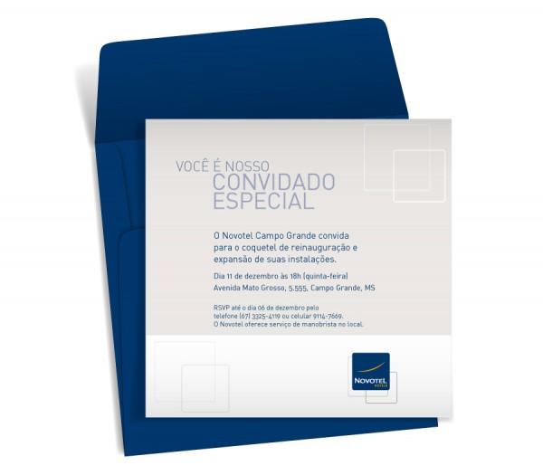 Convite Inauguração Novotel