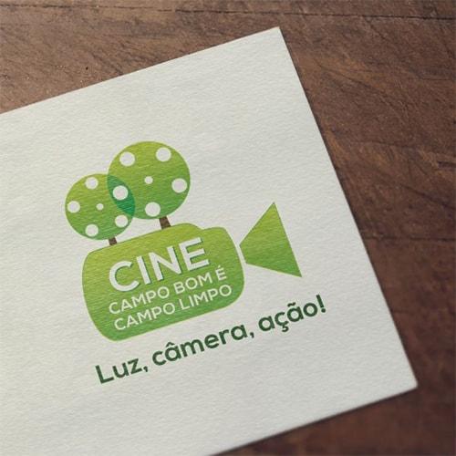 Logo Cine Campo Bom é Campo limpo