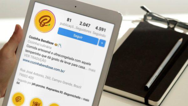 Tablet Instagram Cozinha Bendisse