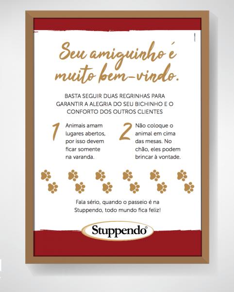 Quadro regras Stuppendo Campo Grande